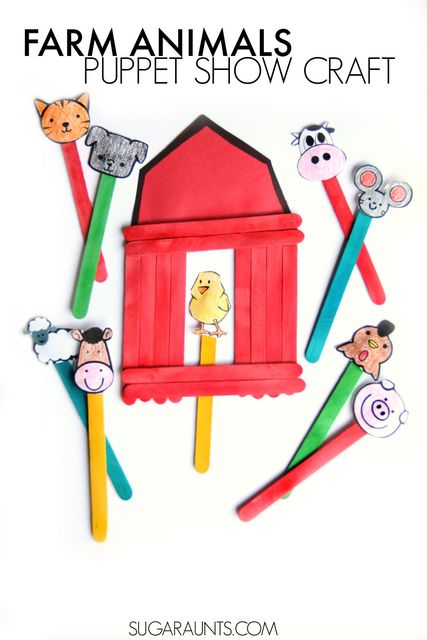 farm barn animals puppets craft theresa public library
